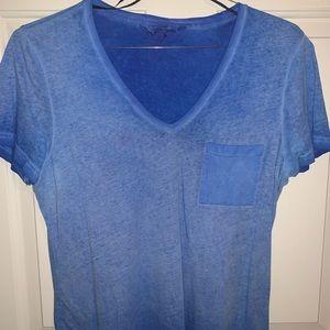 Blue V neck tee